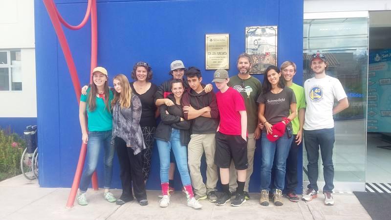 Volunteer's group at the front door