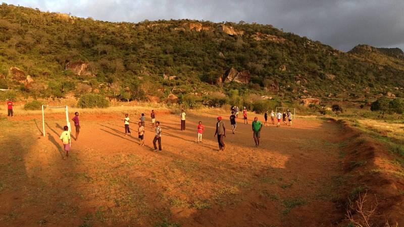 Football with the locals - Tsavo, Kenya
