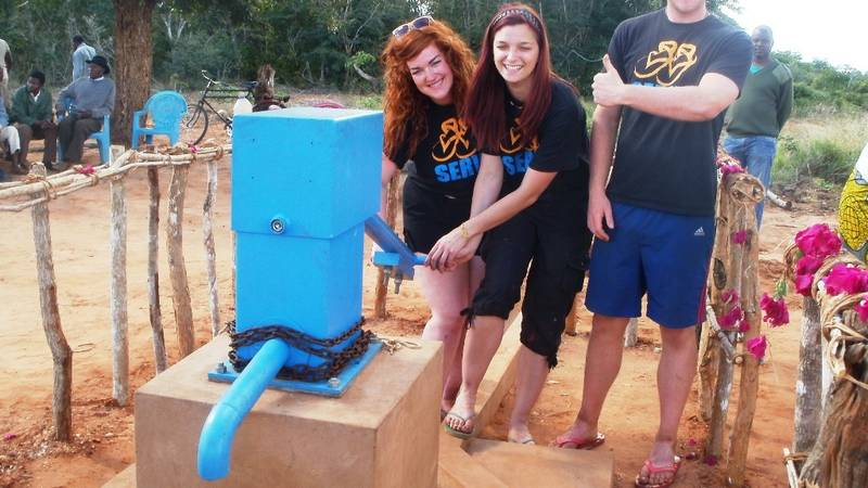 giving frash water to the community