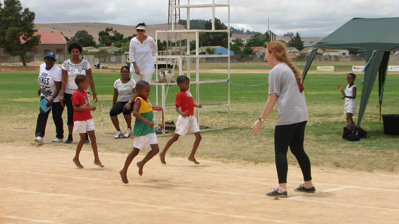 Assisting with sport (athletics)
