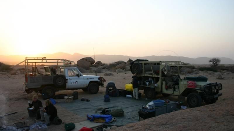 Typical patrol camp