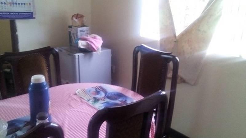 Dinning room at the volunteer residence