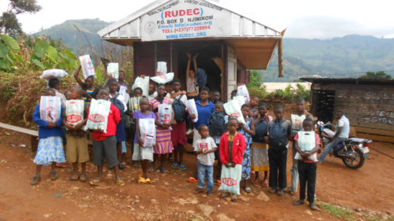 Children happy to have collected donations