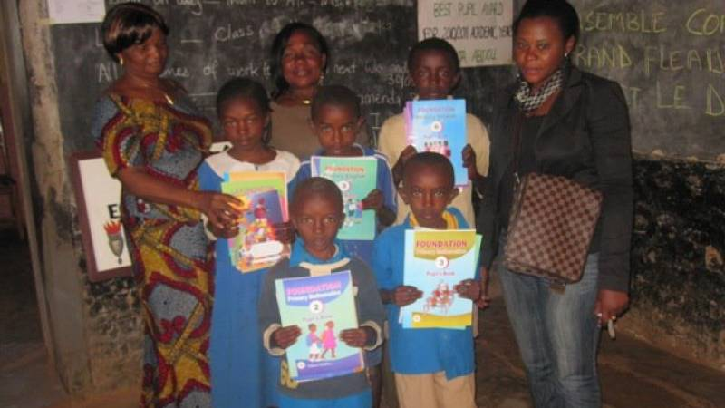 CAEPA donating books to orphans
