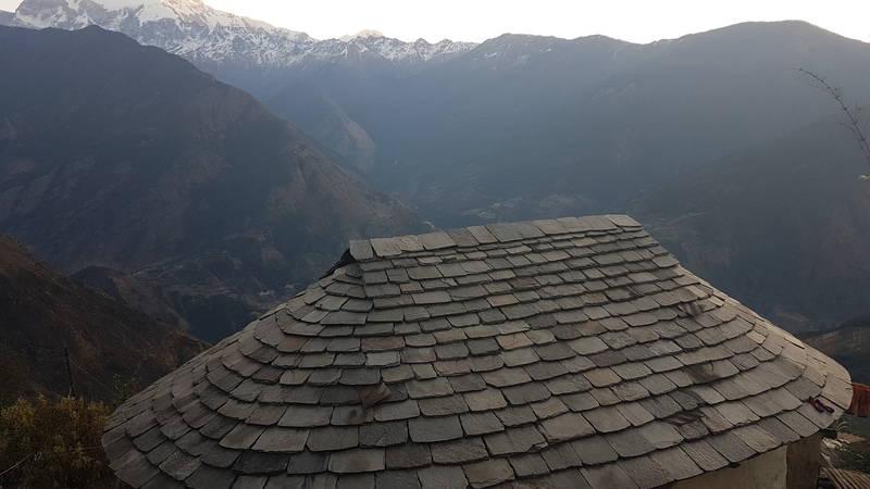 typical Gurung peoepls home in village