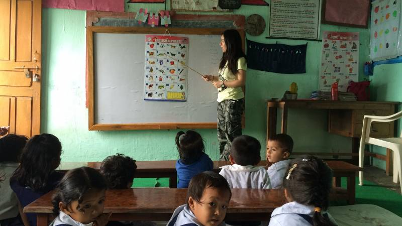 Teaching at pre school