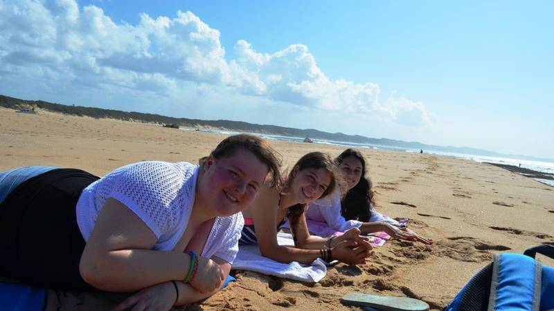 The girls on the beach at Sodwana Bay