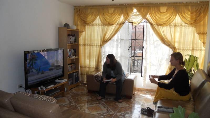 Volunteers taking a Wii Break