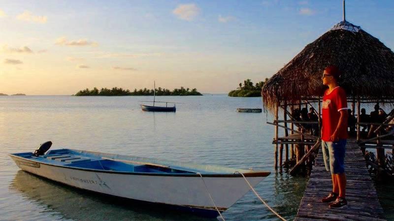 Visiting local island