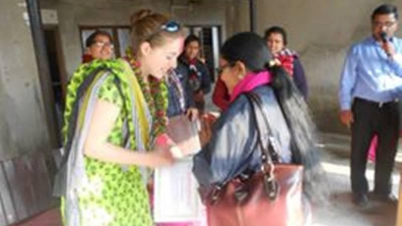 Volunteer farewell program at chitwan.