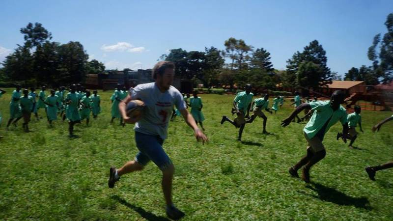 Rugby session in our partner school!