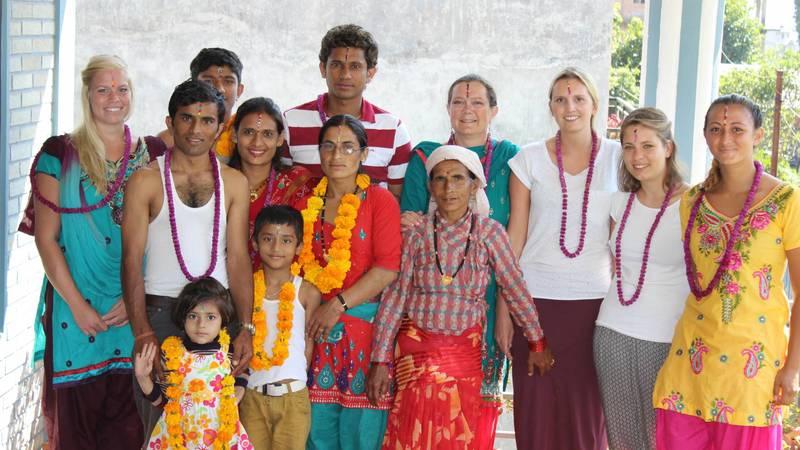 celebrating festival  with family