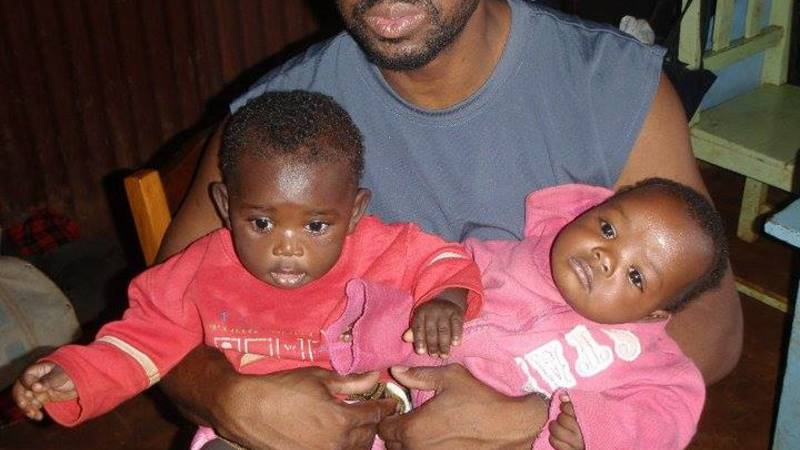 Cedric with kids