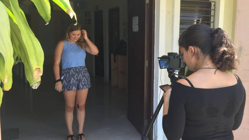 Volunteer interviewing