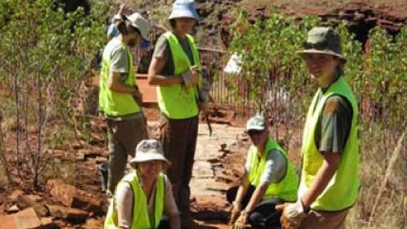 Volunteers maintaing Park road Gombe - Kigoma