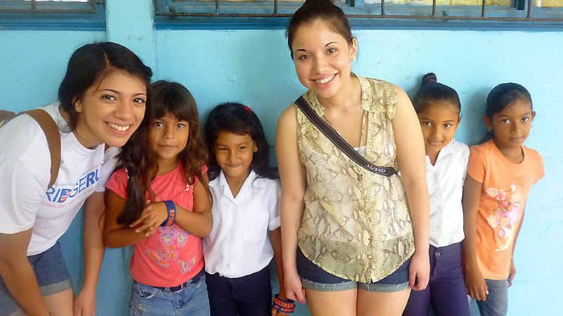 Volunteer at a school