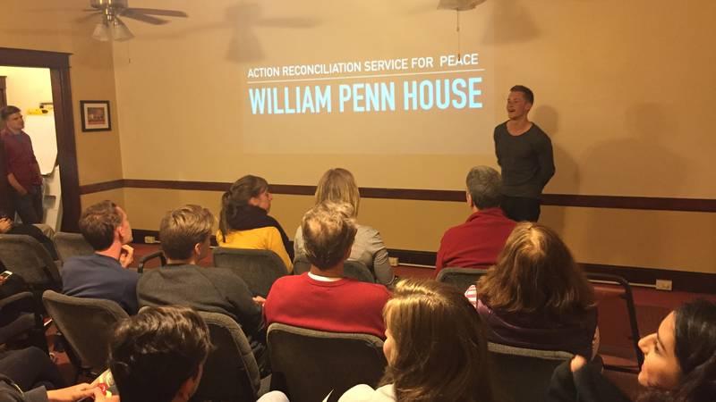 Volunteer gives presentation