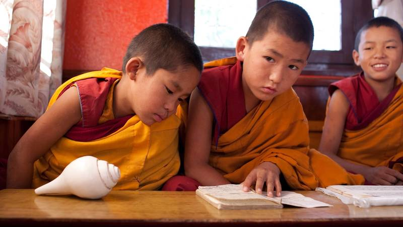 Teaching English to Monks
