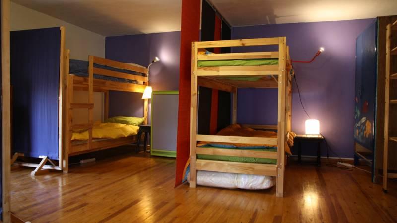 Volunteers room sleeping area