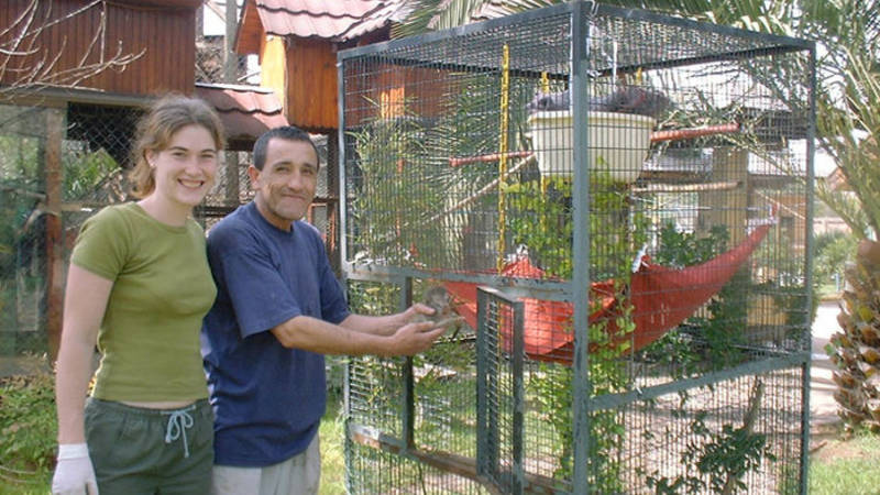 Monkey rescue supporter