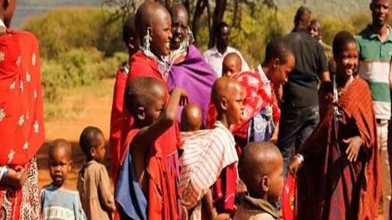 Maasai waiting for dental check up