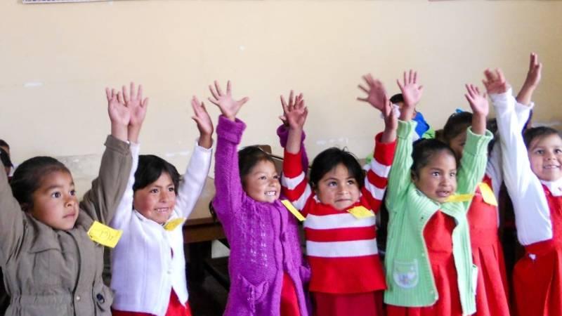 Children having fun in Tarabuco