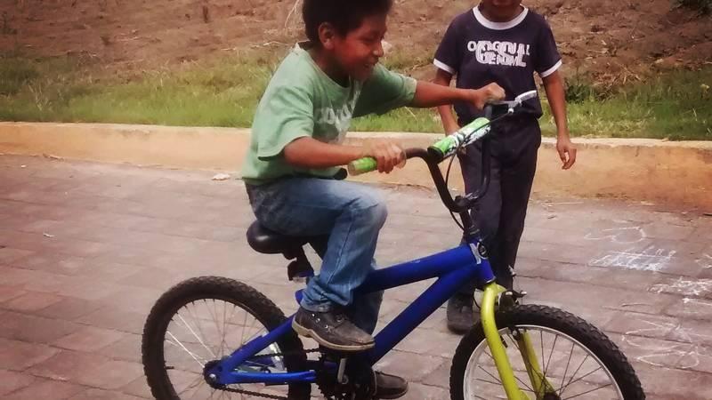 Biking on a new bike!!!