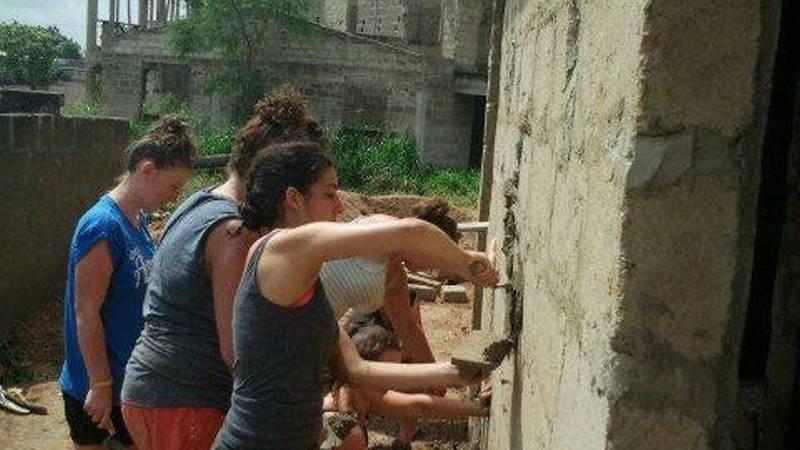 some past volunteers at work