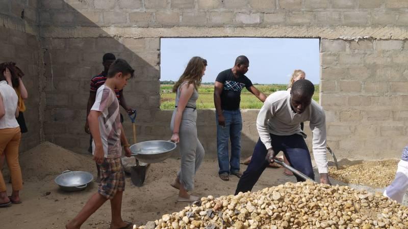 Building work in Ghana