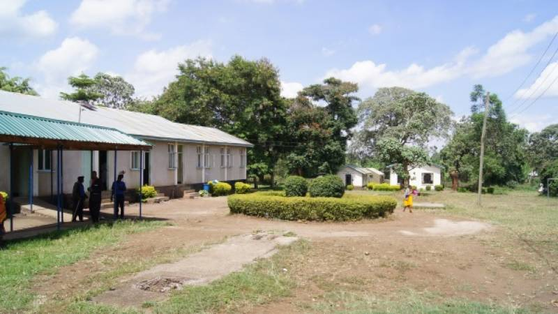 the hospital's compound