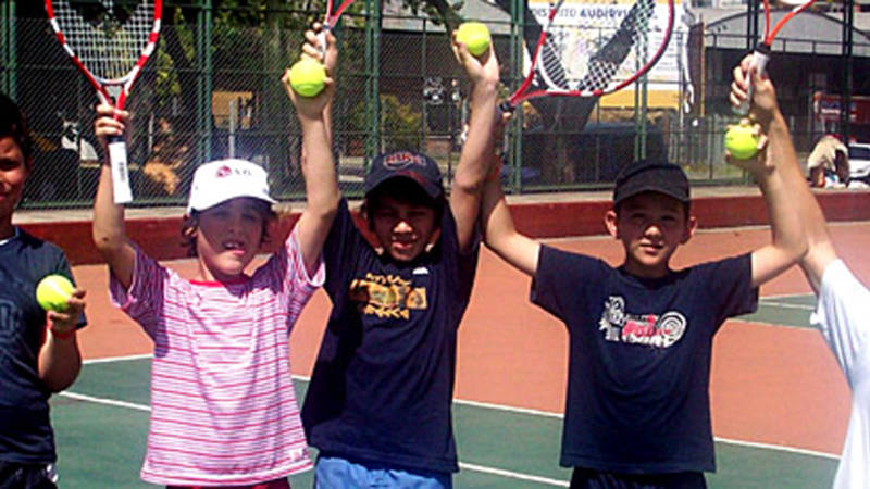 Tennis coach for local children