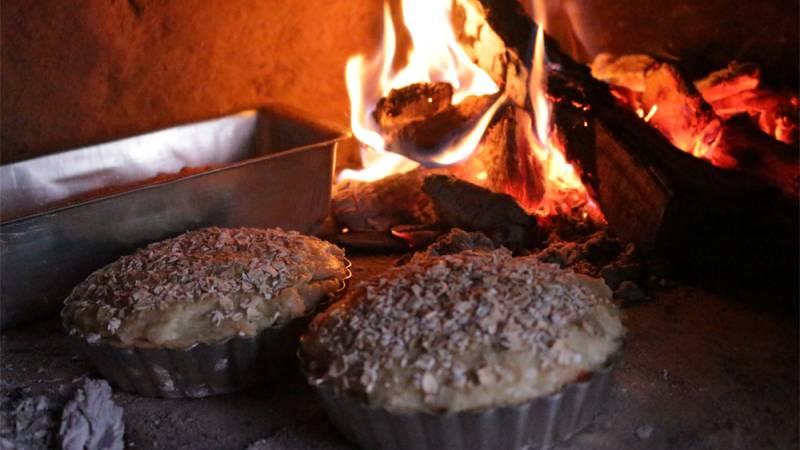 wood-fired veg pies
