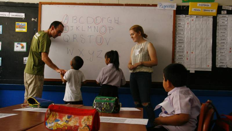 Teaching English  in our school