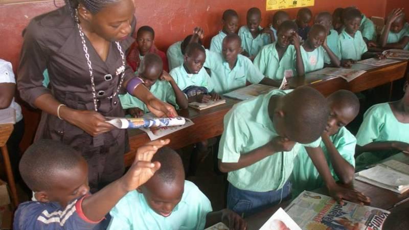 Lifeskills teaching in one of the partner school