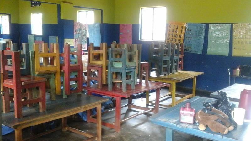 a rural kindergarden classroom