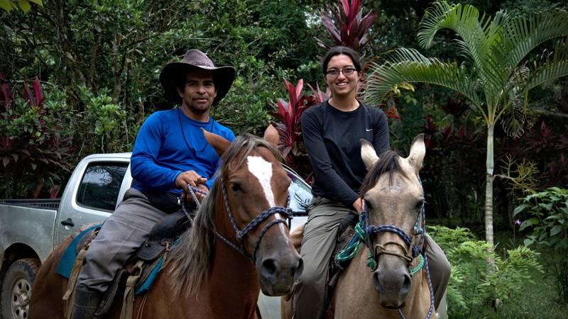 Horseback riding with the neighbors