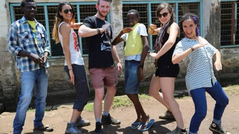 Volunteers during the filming of our documentary