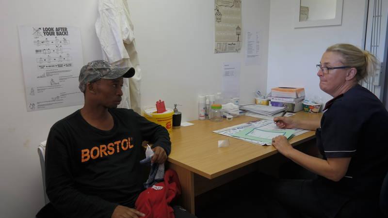 Nurse Annie with a patient