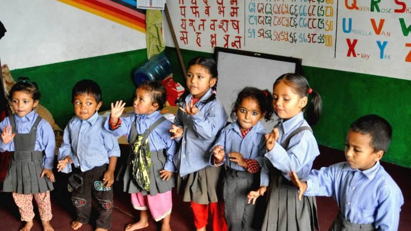 Teaching children basic english