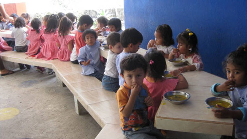 Feed children