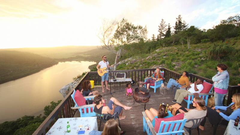 a LIVE music sunset at African Array Lodge
