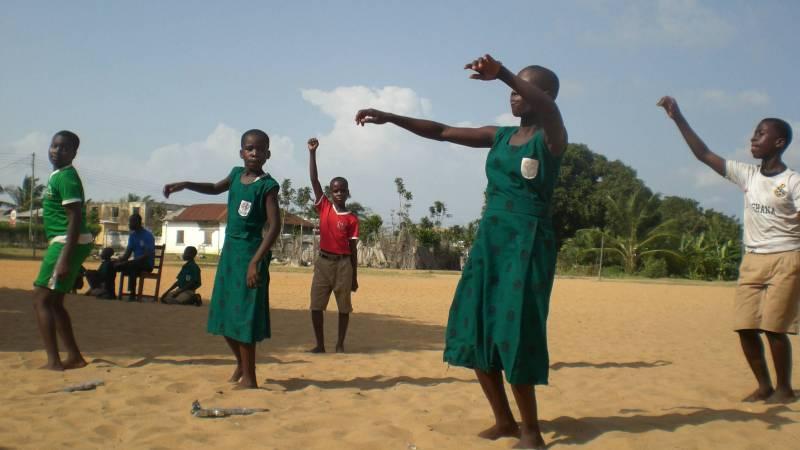 Dancing welcome in Ghana