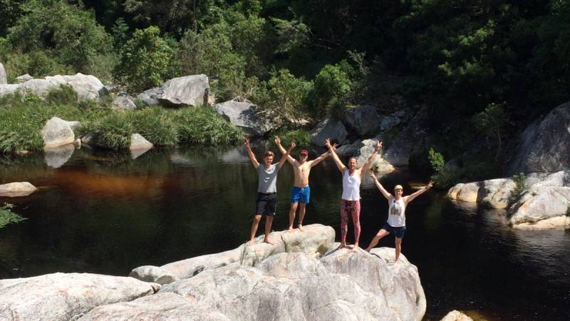 Hiking to some waterfalls in the Knysna forests
