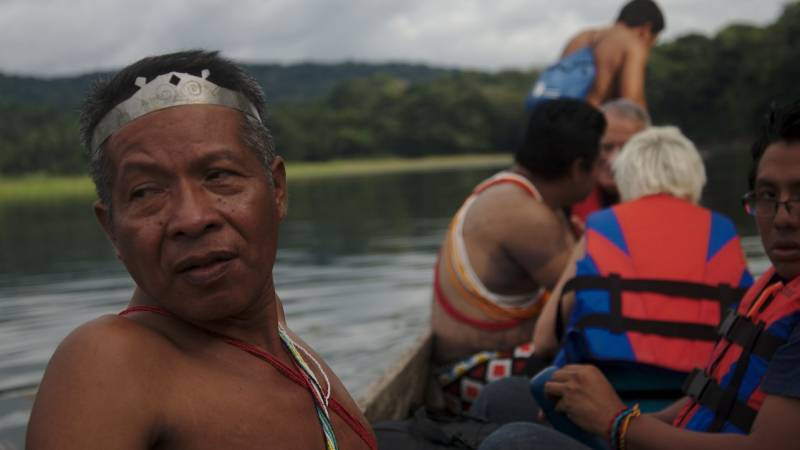 Indigenous people from the Chagres region