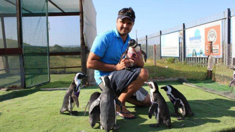 Getting close with the penguins!