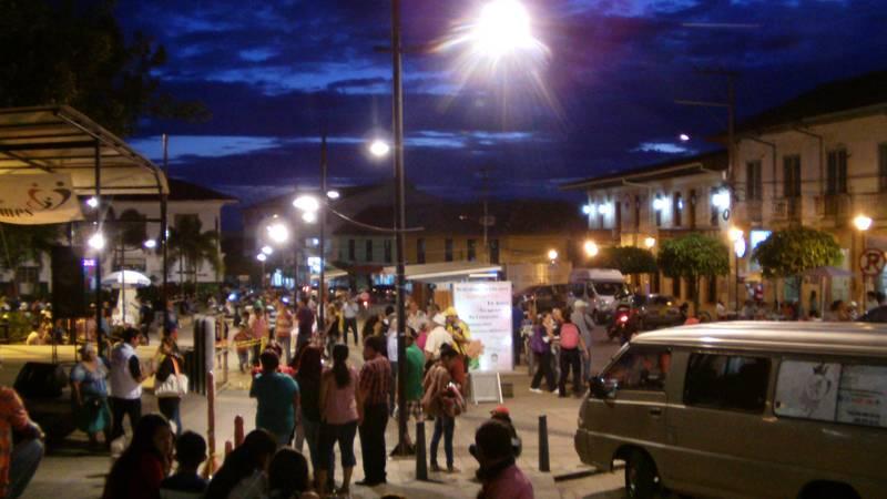 La Mesa Town at night