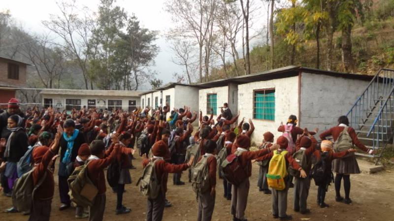 The school in Mountain Nepal