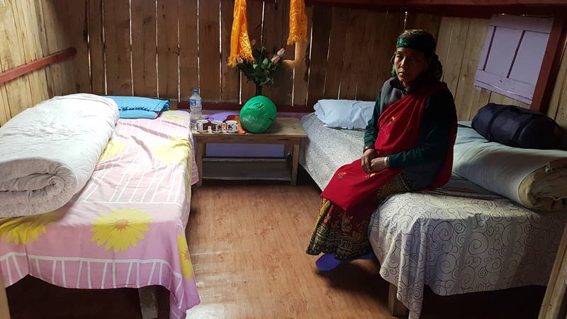Sleeping conditions in village