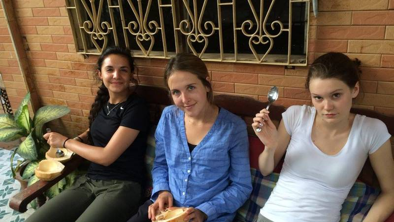 At volunteer accommodation