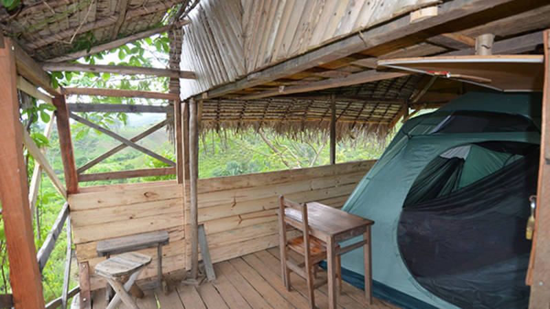 A tent site